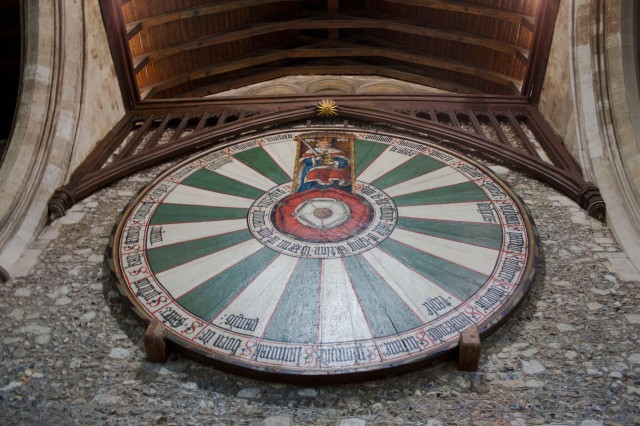 The Round Table Hanging On The Wall Of The Great Hall In